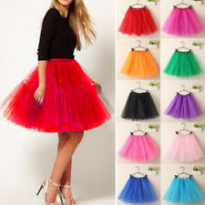 Women Girl Princess Ballet Tulle Tutu Skirt Prom Rockabilly Pleated Mini Dress