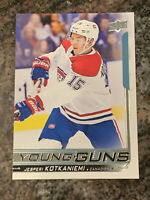 2017-18 Upper Deck Jesperi Kotkaniemi #249 Young Guns ROOKIE CANADIENS SP Hot!