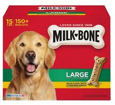 Milk Bone Dog Biscuits Large 15 Lbs Snack Treat Teeth Cleaner ~ Free Shipping