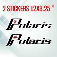Pair of vintage Polaris decals in vinyl 12 inch sticker RUSH SWITCHBACK RMK XCR