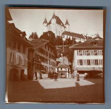 Suisse, Thoune (Thun), Le Château et Pension Hôtel des Bouchers  Vintage citrate