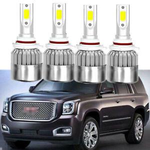 4x LED Headlight Conversion Kit HI-LO Beam Bulb 6000K For GMC Envoy 2004-2008