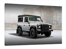 Landrover Defender 90 - 30x20 Inch Canvas Framed Picture Print