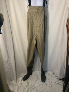 CABELA'S Chest Waders Sz. 10 Model# 83-0090 - Tan EUC