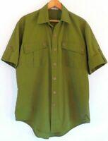 Vtg 80s 90s Army Green Retro Military Surf Skate Grunge Streetwear Shirt M L