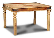 DINING ROOM FURNITURE JALI LIGHT SHEESHAM 120CM DINING TABLE (J40L)
