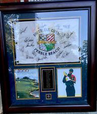 2000 US OPEN Tiger Woods Cert Of Aut MINT 13 Players