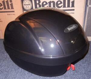 Benelli Ducati Guzzi BRAND NEW luggage rear top case + mount for helmet - GREY