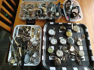 Huge vtg to now watches, pocket watches movements illionoise, hamilton seiko