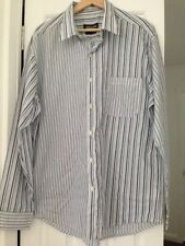 Button-Front Striped Casual Shirts for Men