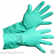 SOLVEX ANSELL EDMONT GREEN RUBBER GLOVES 37-175, SIZE 10, LOT OF 5 PAIRS