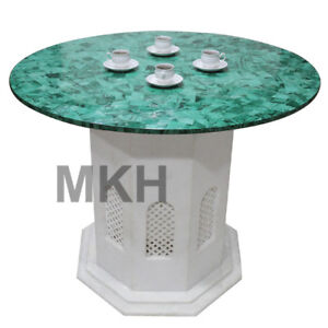 Dining Table Marble Coffee Table Top Inlay Marquetry Vintage Furniture Tables