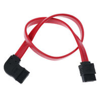QIVYNSRY 3PACK SATA Cable III 3 Pack 90 Degree Straight to Right Angle 6Gbps HDD SDD SATA Data Cable with Locking Latch 18 Inch for SATA HDD CD Writer Red SSD CD Driver