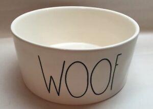 Rae Dunn Woof Dog Bowl Magenta Farmhouse
