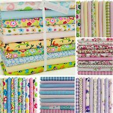 Fat Quarter Fabric Bundles FLORAL SPOTS KIDS Polycotton Craft Material Remnant