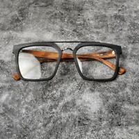 Women Vintage Glasses Frames Square Acetate Eyeglasses Big Glass  Myopia Blue li