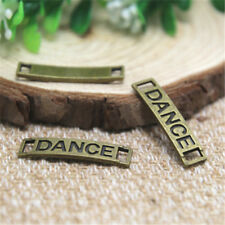 20pcs Dance Charms Antique bronze dance Charm Pendants connector 28x7mm