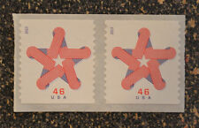 2013USA #4749 46c Patriotic Star Coil Pair -  Mint  MNH  strip of 2