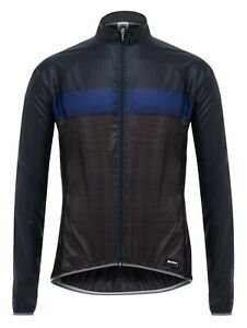 Skin Design Packable Lightweight Cycling Jacket by Santini in Blue - S
