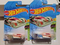 Mattel Hot Wheels 2021 HW Glow Racers 4/5 GREEN Lindster Prototype LOT OF 2