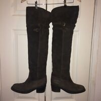 Buttero Womens Ladies Knee High Suede Heeled Riding Boots Size 39/ UK 6