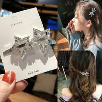 Women Crystal Rhinestone Hair Clip Snap Barrette Comb Stick Claw Clamp Hairpin