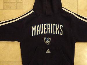 BLUE NBA ADIDAS DALLAS MAVERICKS hooded sweatshirt  YOUTH S FREE US SHIPPING