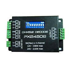 PX24506 DMX 512 Decoder Driver 9A Amplifier For 12V 24V RGB LED Light DMX Strip