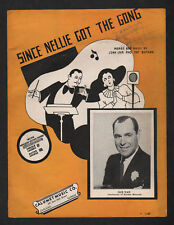 Since Nellie Got the Gong 1936 Gus Van Sheet Music
