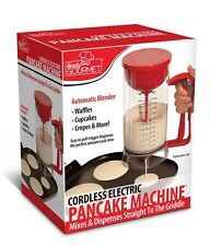 Cordless Electric Pancake Batter Dispenser Perfect Cupcakes Waffles Breakfast