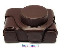 Brown Leather Camera Case Bag Cover For Fujifilm Finepix Fuji X10 X20
