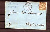 Schöner Faltbrief Norddeutscher Postbezirk Ein Groschen - b0173