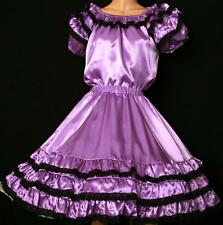 LAVENDER SQUARE DANCE DRESS OUTFIT SKIRT, BLOUSE  SIZE S/M