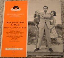 """10 Inch Album By Peter Alexander, """"Mein Ganzes Leben Ist Musik"""" on Polydor"""