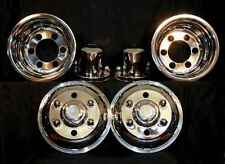 "Chevy Gmc W3500 W4500 Wheel Simulators 16"" 6 lug cabover bolt on stainless dualy"