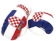 1 Paar Mini Boxhandschuhe Kroatien 9 cm x 4,5 cm Kunstleder