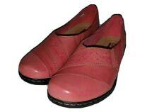 Clarks Collection Womens Slip On Comfort Shoe Pink Size 7