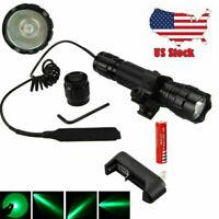 8000LM Tactical Flashlight 501B Hunting LED Rail Scope W/Picatinny Light Mount