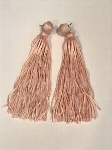 BAUBLEBAR Valencia Shoulder Duster Tassel Earrings Pink