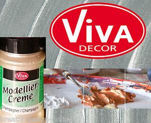 Viva Decor Modellier Creme  Schabloniercreme Relief 90ml Farbwahl