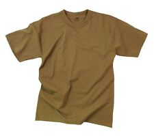 Rothco 6848 Solid Color BROWN Poly cotton Military T-shirt MADE IN USA SMALL S