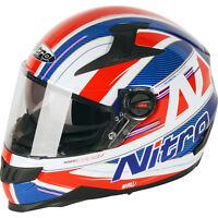 Nitro N2200 Sterling DVS Full Face Motorcycle Helmet Bike Pinlock Ready