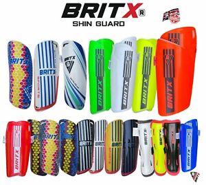 BRITX Shin Pads Soccer Football Hockey Shin guard Ankle Protectors Kids Youth