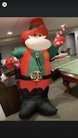 Santa Christmas Inflatable Cowboy Gemmy Airblown Rare Inflatable Claus Htf