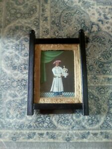 Fine antique Indian portrait miniature painting of a gentleman in period frame.