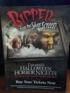 2009 Halloween Horror Nights 19 Ripped From The Silver Screen Table Top Display