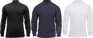 Turtleneck Warm High Collar Neck Uniform Top Long Sleeve Mock Shirt Sweater