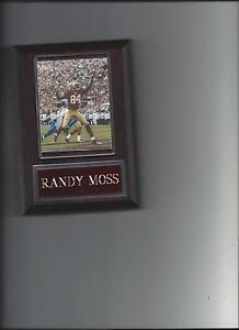 RANDY MOSS PLAQUE FOOTBALL SAN FRANCISCO FORTY NINERS 49ers NFL