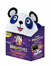 Bright Eyes Blanket by Snuggie Glow in The Dark Eye Blue PANDA Fleece Best Gift