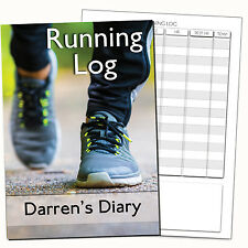 A5 PERSONALISED RUNNING DIARY/RUN LOG BOOK, RUN RECORD/JOURNAL/ PERSONAL GIFT 3